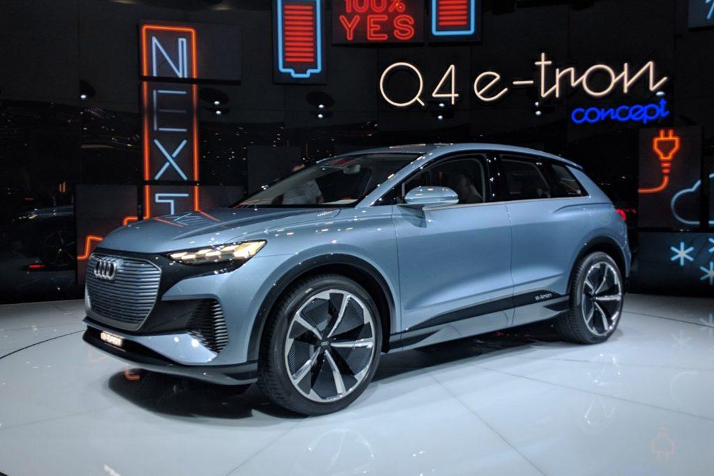 Audi Q4 e-tron concept en el Auto Show de Ginebra