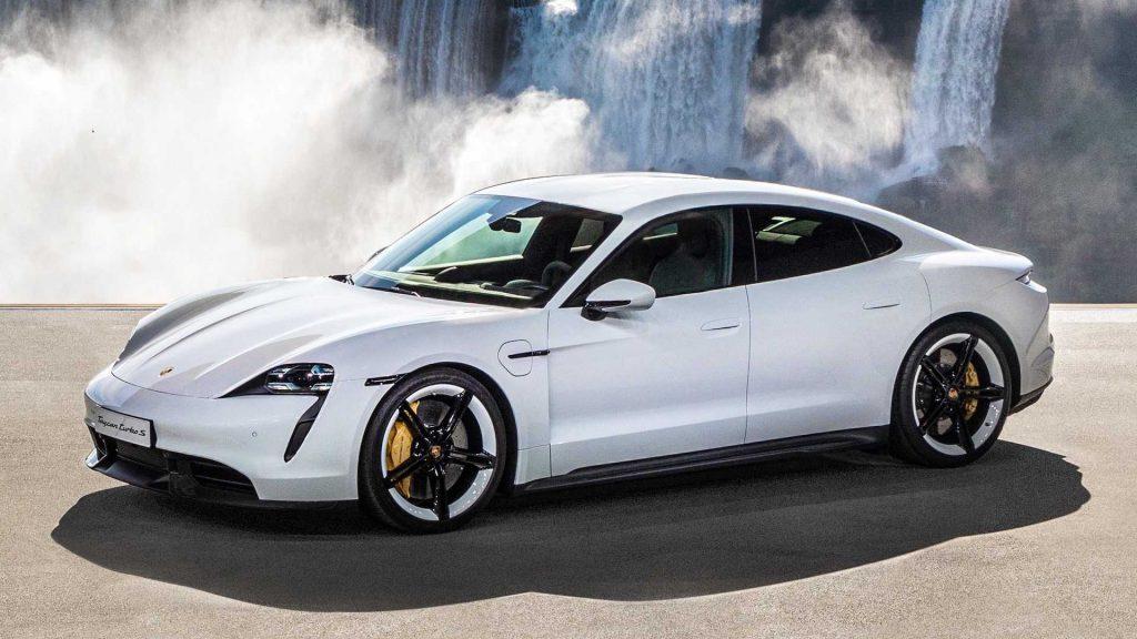 Porsche Taycan 2020 blanco