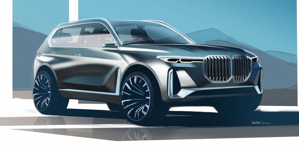BMW X8M, dibujo concepto de del 2017